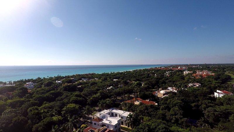 Vista del Caribe desde arriba Casa Selva Caribe