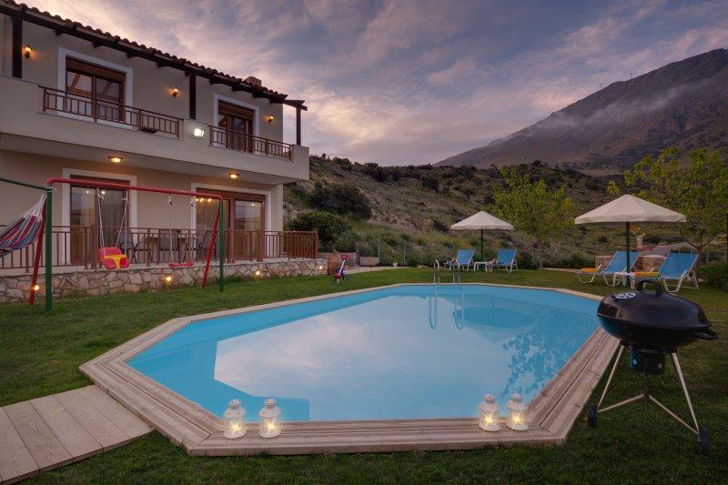 Triopetra Luxury Villas in Rethymno - Crete - Villa Stefania with Private Pool, holiday rental in Mesi