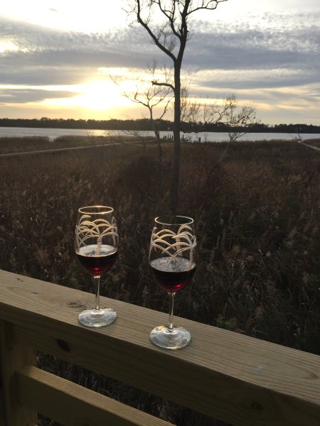 Enjoy sunsets over the Albemarle Sound from your private balcony!