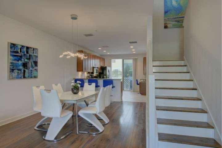 Modern contemporary open concept.  No carpet anywhere in this town house!
