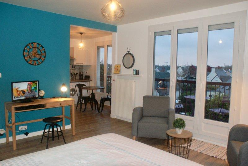 Appartement * Nouveau Monde, plage à 10 minutes, centre-ville à pied, vacation rental in Saint-Brieuc