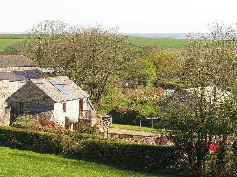 Gospenheale Barn is omgeven door prachtige platteland van Cornwall.