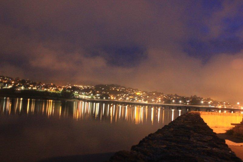 Teign Estuary bridge by night