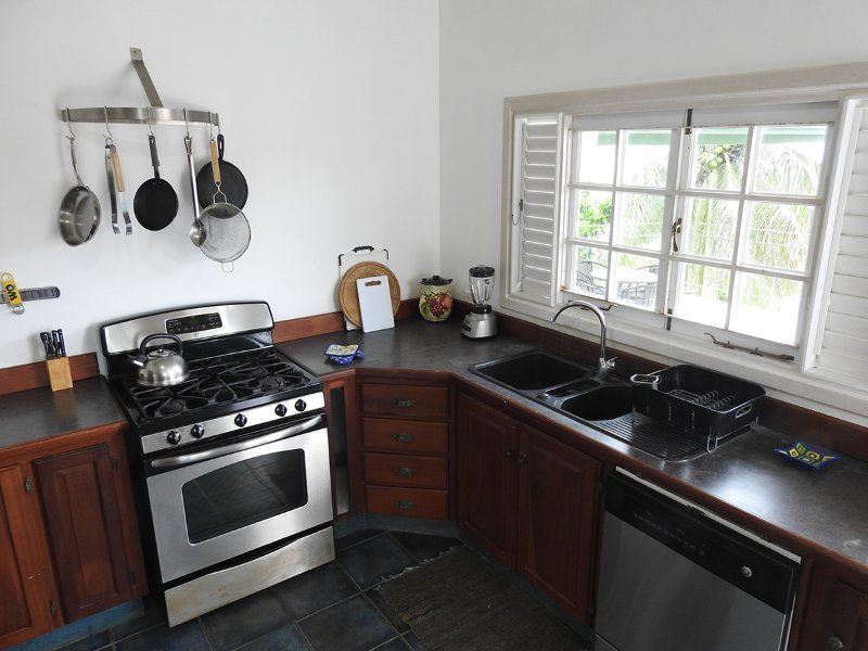 The house has fully self-catering and well-equipped kitchen for guests to provide their own meals