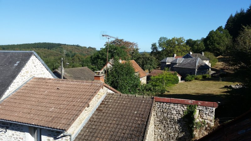 View or the hamlet from the loft.
