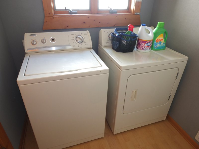 Bathroom #3:  The large washer and dryer.  Great for keeping clothes clean while on vacation.