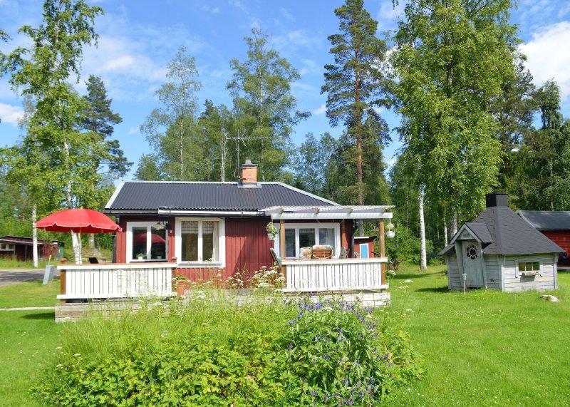 K43 Stewart Cottage - söderläge däck med täckt område
