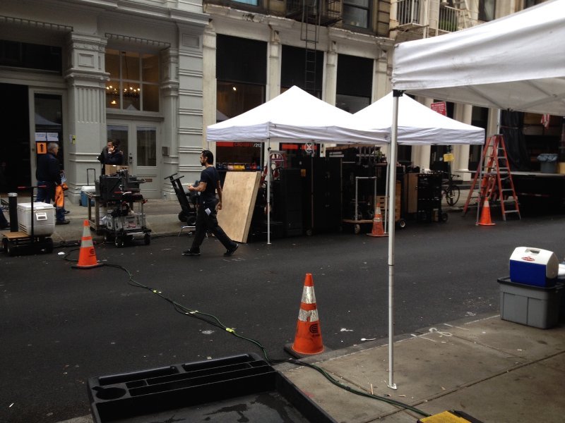 Our street on set of John Wick with Keanu Reeves