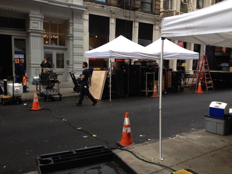 filming John Wick right outside w/ Keanu Reeves