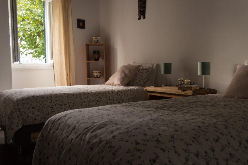 Twin bed bedroom