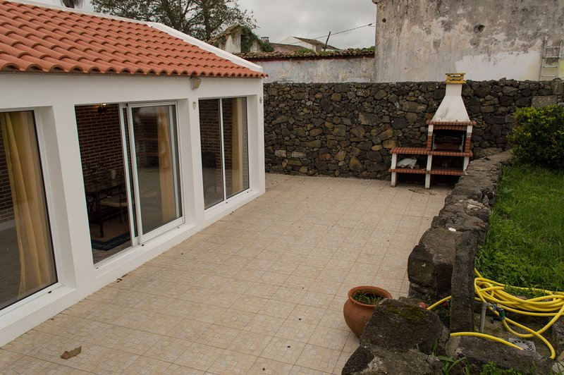 Private back patio with BBQ