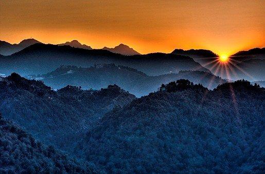 Vue Sunrise du chalet