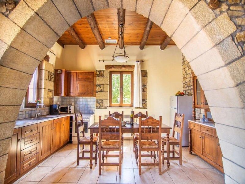 La cocina en la zona principal de la villa
