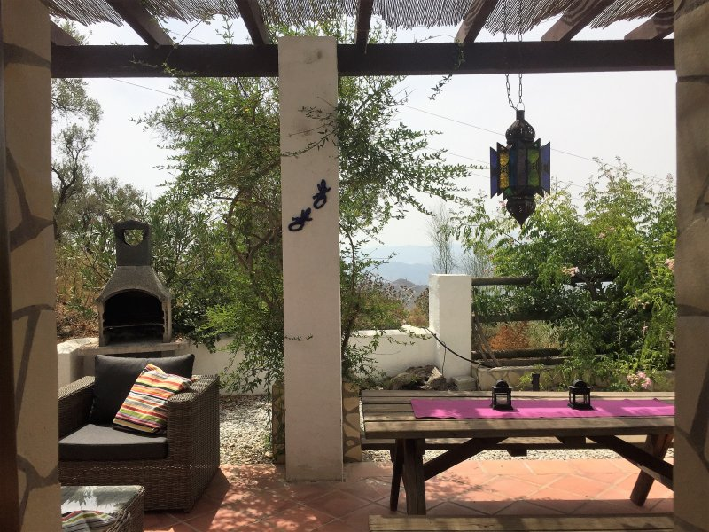 From the bungalow you have access to the terrace