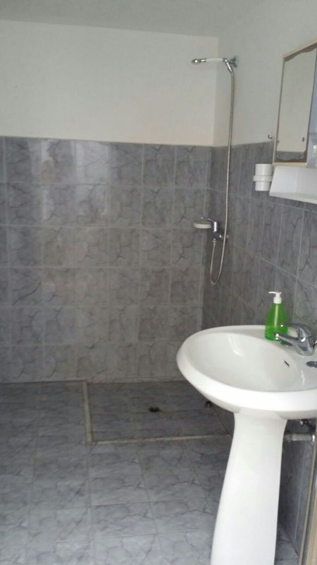 Outside bathroom with shower