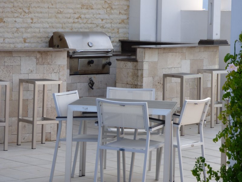 Closeup of the Rooftop BBQ (additional fee)