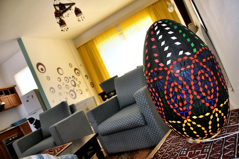 comfortable apartment, furnished with style and local handicraft products