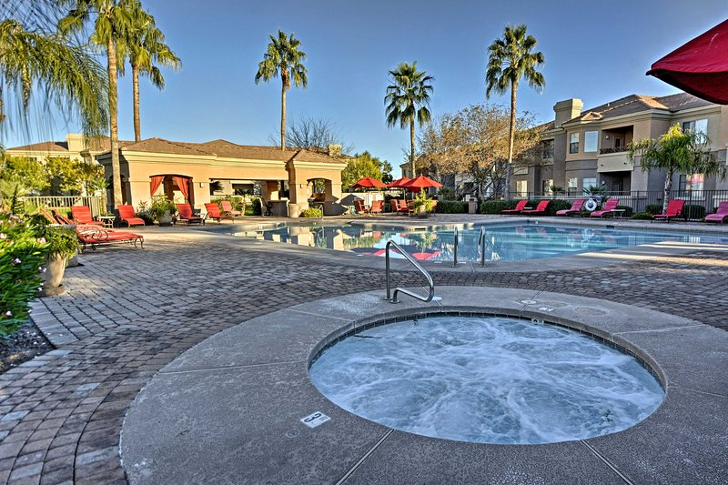 Elevate your Phoenix getaway by staying at this luxury Mesa vacation rental condo at Solana Resort!