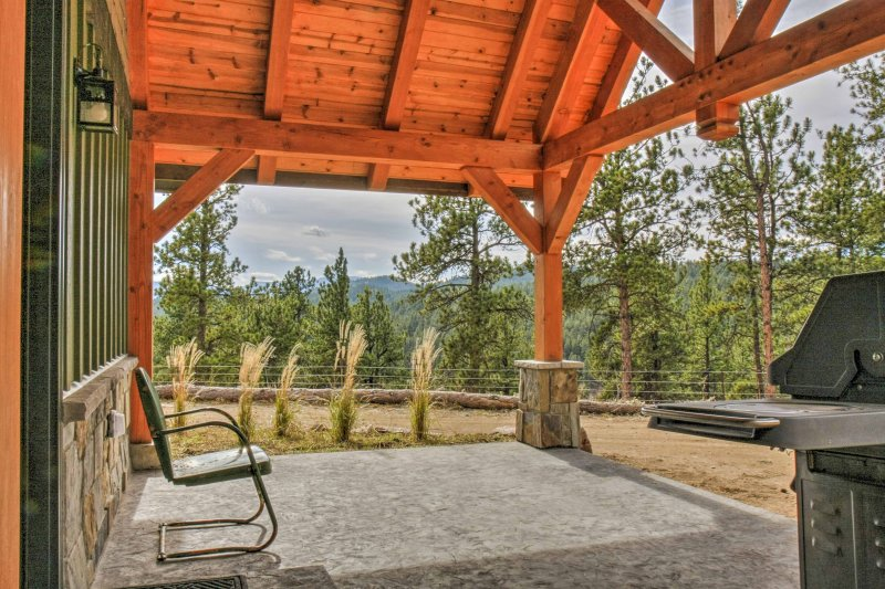 You'll have incredible Rocky Mountain views right from the private patio.
