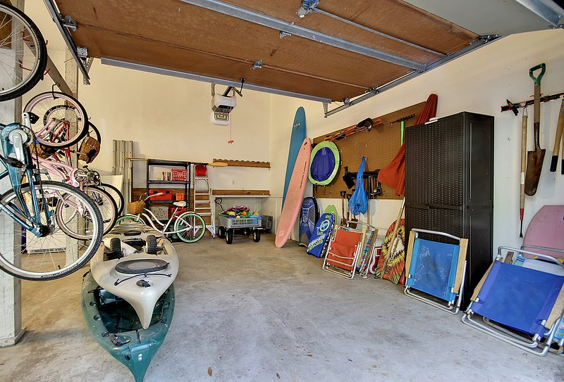 two-car garage/ guests may use the beach chairs/toys/bikes/beach trolley and canoes free of charge