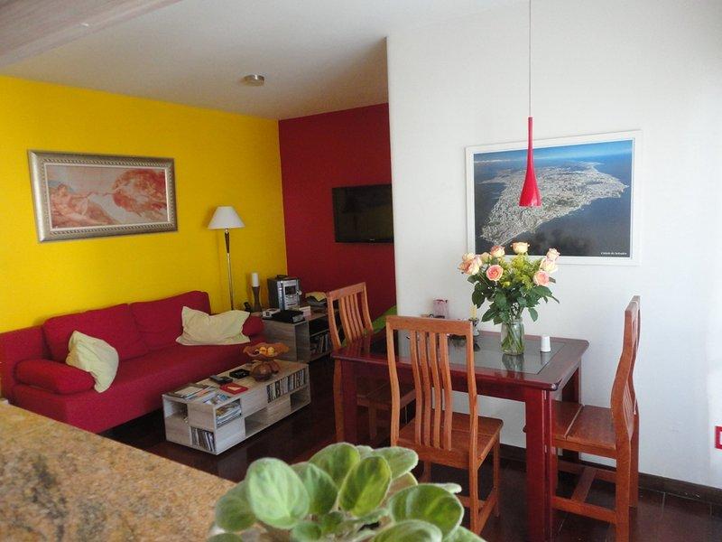 Central, quiete and spacious apartment, location de vacances à Vera Cruz