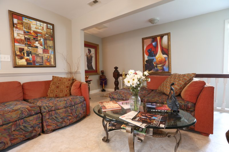 Relax and enjoy the family room.