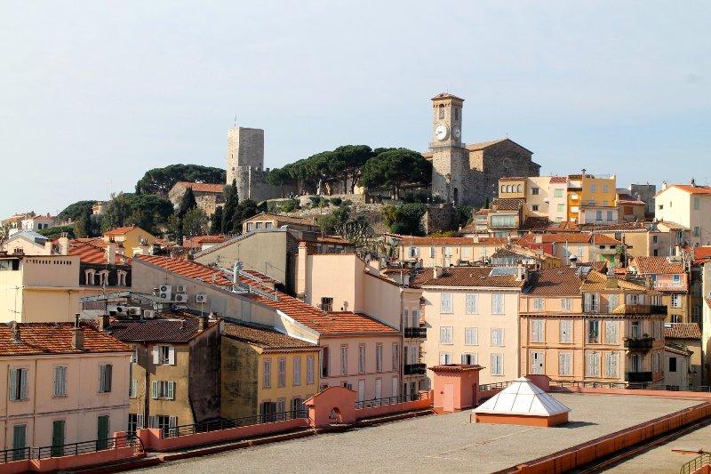Vue du village Suquet de Cannes
