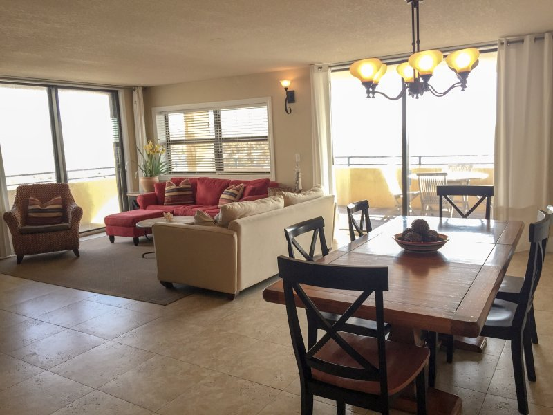 living room and dining room - more spacious than most!