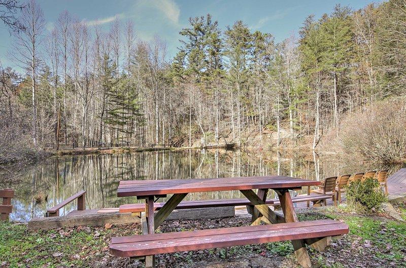 U zult in de perfecte plek om opnieuw te verbinden met de natuur in dit Blue Ridge cottage!