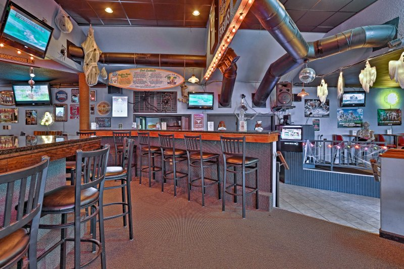The bar offers comfort food, a pool table and darts!