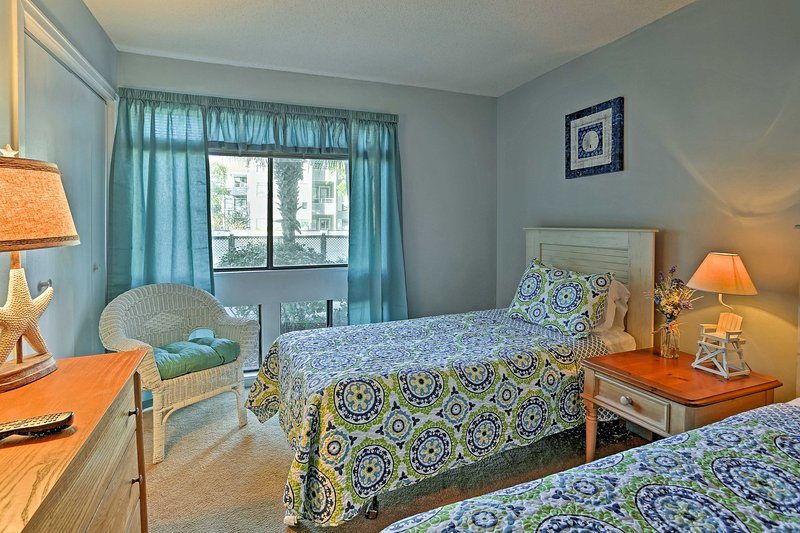 With 2 twin-sized beds, this second bedroom is ideal for kids!