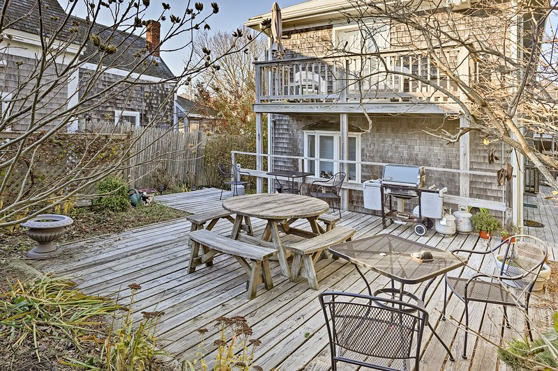 Experience the best of historic Provincetown from this charming 2-bedroom, 1.5-bath vacation rental condo situated on the East End.