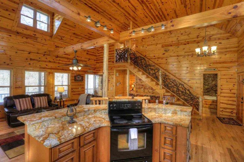 Abra Cozinha w Luxo Ouro Granito