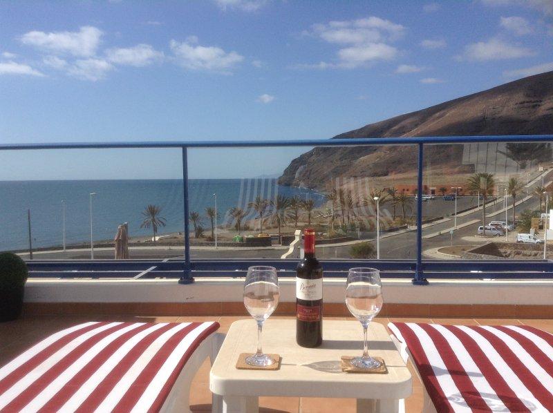 terraza privada para tomar el sol