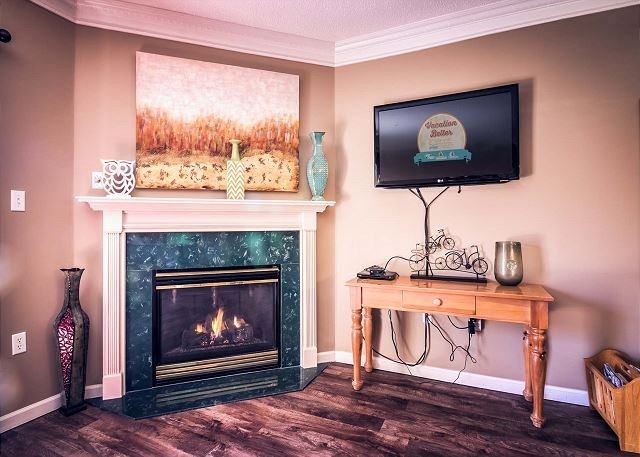 TV de pantalla plana i sala de estar