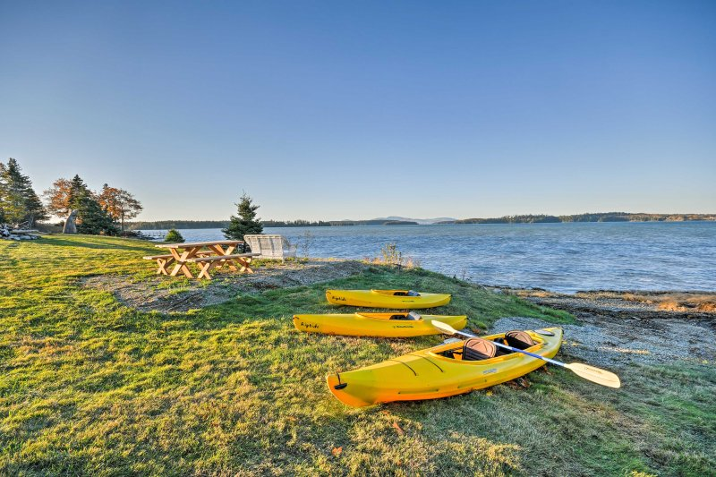 Retreat to the serene shores of Sullivan, Maine with 'Captain Jack's Maine Vacation Shack!'