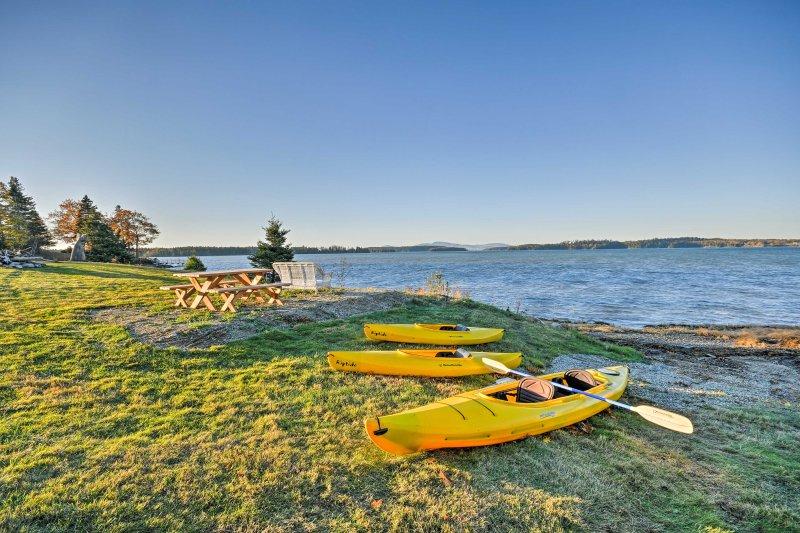 Retire-se para as praias serenas de Sullivan, Maine com 'do capitão Jack Maine férias Shack!'