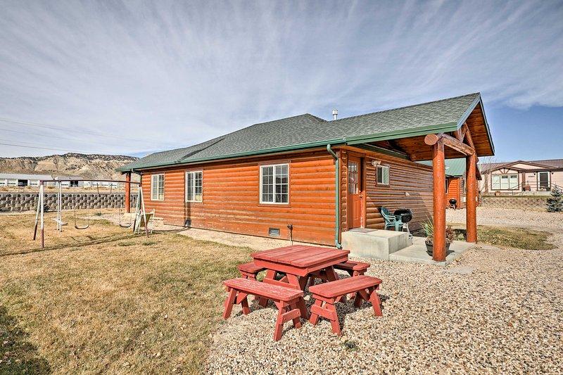 Escape to this rustic 1-bedroom, 1-bathroom vacation rental cabin in Tropic, Utah!