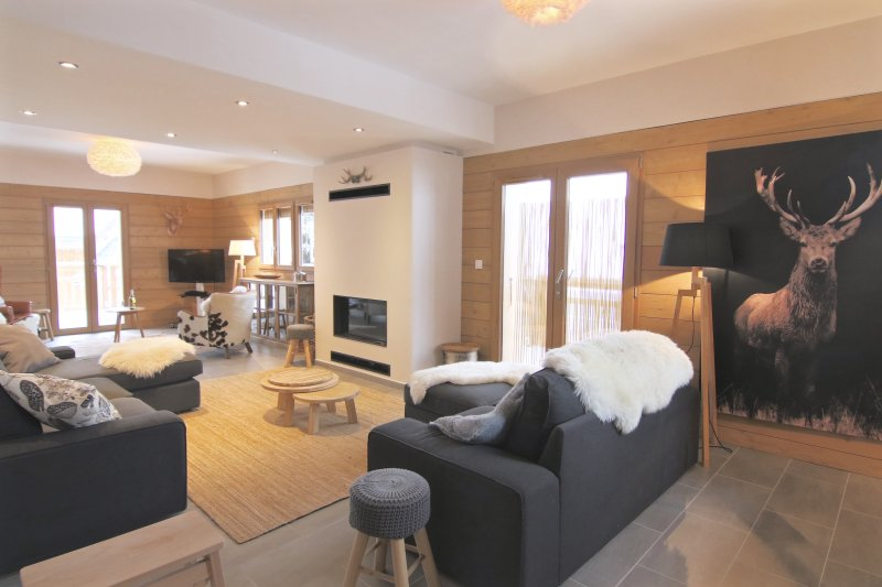 Le Chalet is a stunning 12p high end chalet with sauna. Ski to the door, holiday rental in Peisey-Vallandry