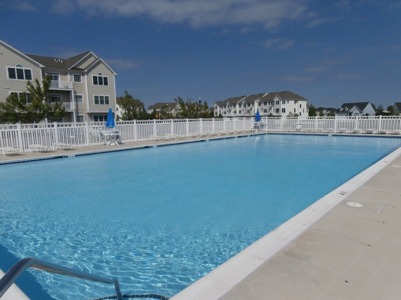 This is 1 of 2 Community Pools in The Grande at Canal Pointe.  First pool just steps away from the home.