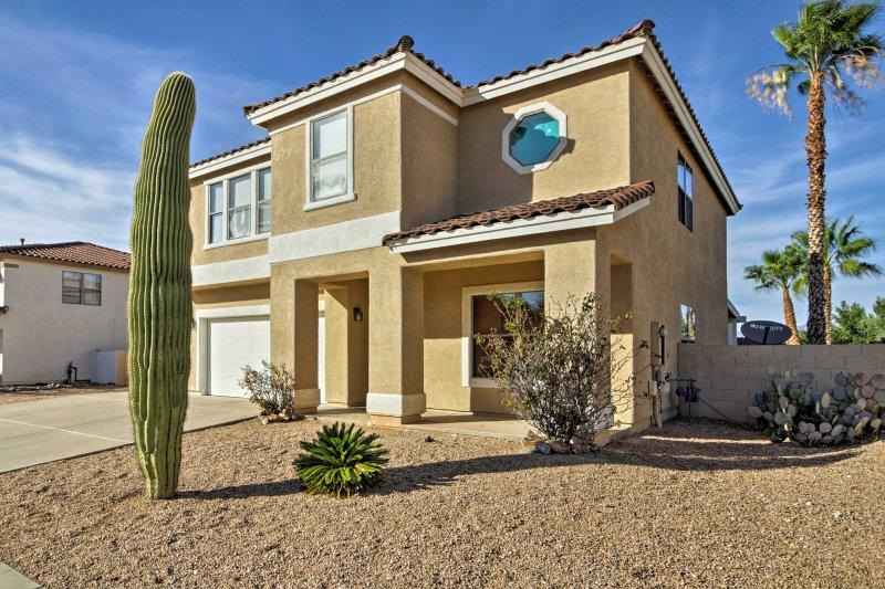 Soak up the Arizona sun from this 4-bedroom, 2.5-bathroom Tucson house!