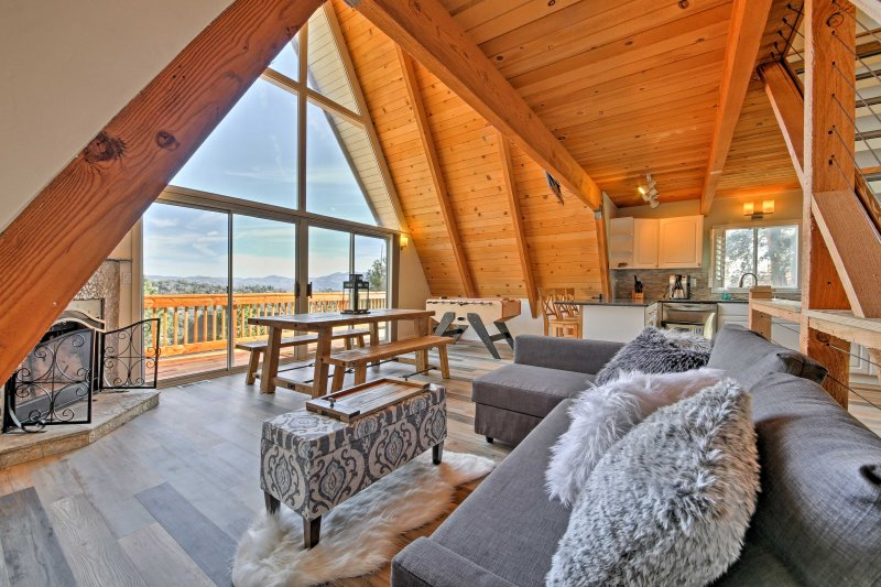 Consider Lake Arrowhead home at this beautiful vacation rental cabin!
