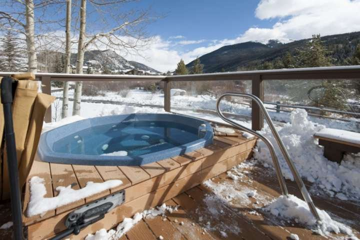 It May Be Chilly Outside But It Is Nice And Warm In The Hot Tub