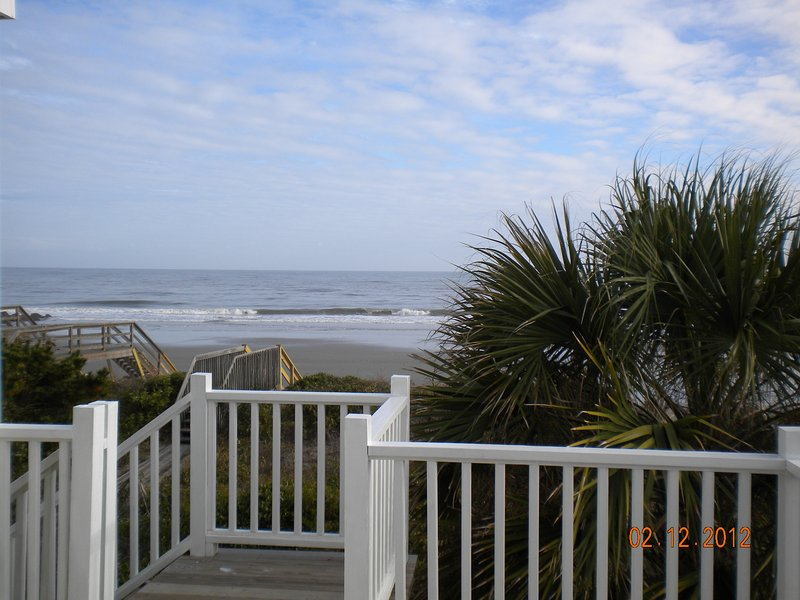 View of beach from open deck