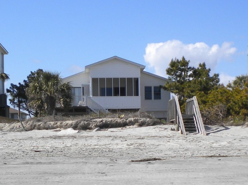 Beach House Direcly On S Of Folly Carolina 4 Bedrooms