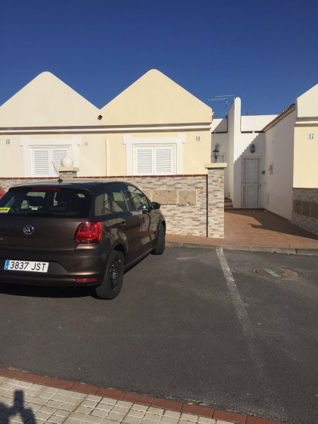 private parking at the front of the property