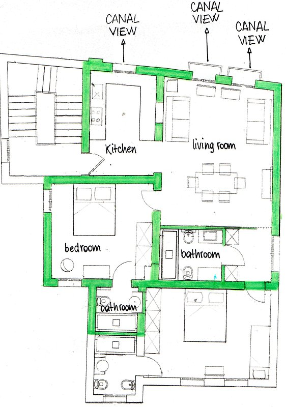 the apartment for 2 people