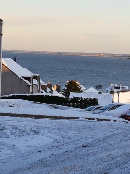 Vista desde el frente de la casa