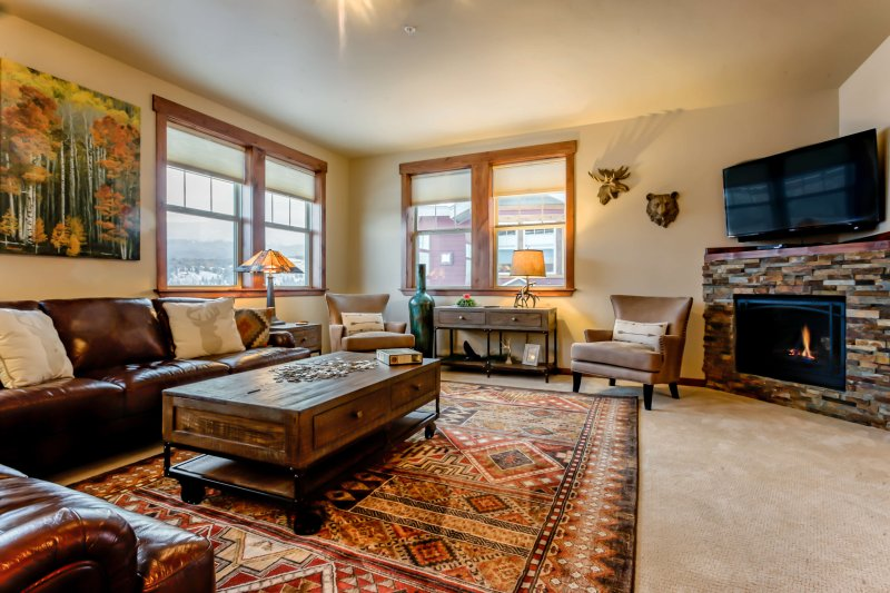 Warm and welcoming family room