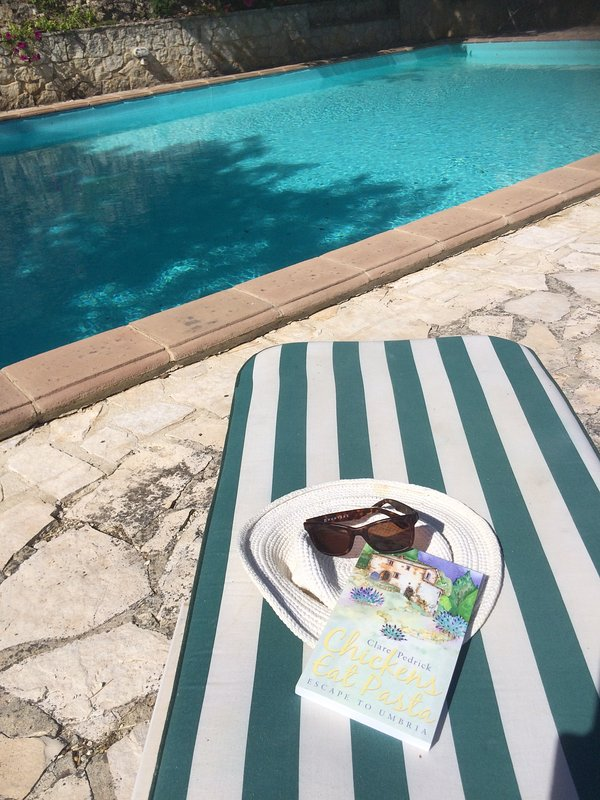 Relax by the pool with a good book